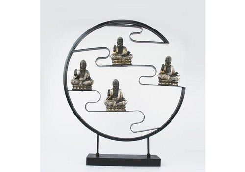 Fine Asianliving Metalen woondecoratie Boeddhabeelden