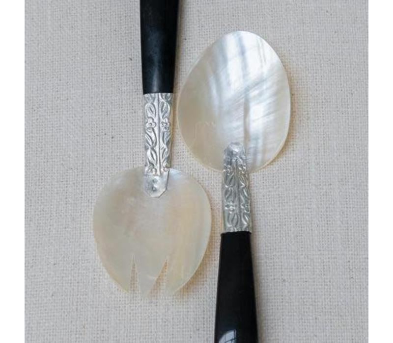 Spoon and fork mother of pearl