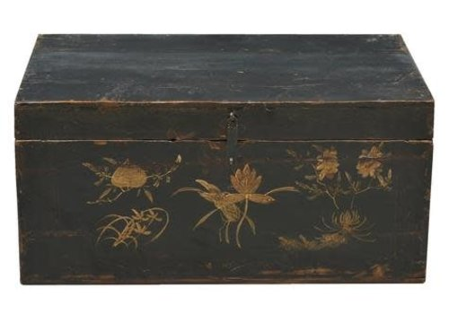 Fine Asianliving Fine Asianliving  Antique Chinese Trunk Handpainted  - Gansu China