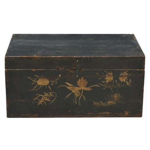 Fine Asianliving  Antique Chinese Trunk Handpainted  - Gansu China