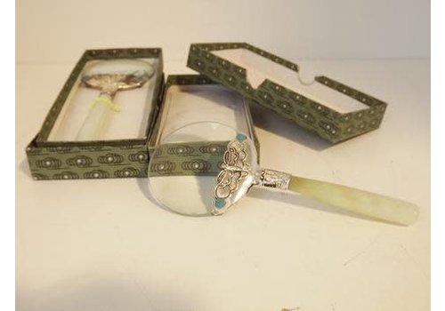 Fine Asianliving Loupe Vergrootglas Bewerkt met Jade Handvat 14.5 cm