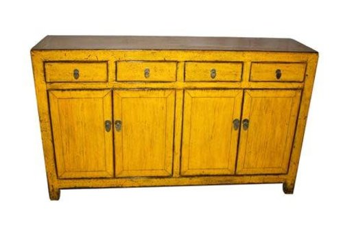 Fine Asianliving Oud Chinees Dressoir Glassy Yellow 20e Eeuw