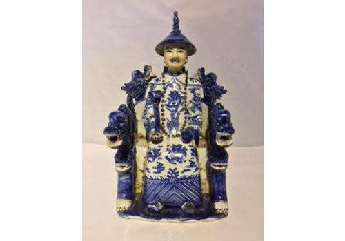 Fine Asianliving Chinese Emperor Dragon Handmade Porcelain Blue/White