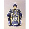 Fine Asianliving Chinese Keizer Draak Handgemaakt Porselein Blauw/Wit
