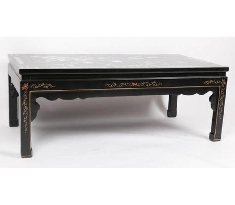 Fine Asianliving Chinese table basse Véritable nacre blanche et peintures à la main