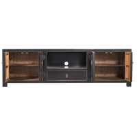 Chinese TV Stand Handbraided Bamboo Black