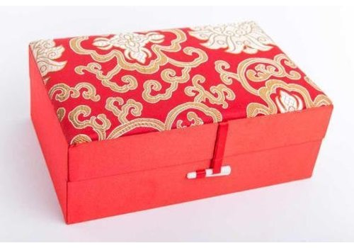 Fine Asianliving Chinese Jewellery Box Medium Red Yellow