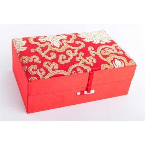 Chinese Jewellery Box Medium Red Yellow