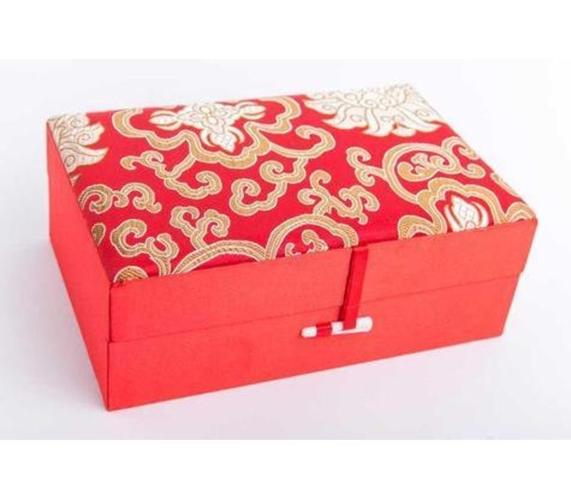 Chinese Sieradendoos Medium Rood Geel