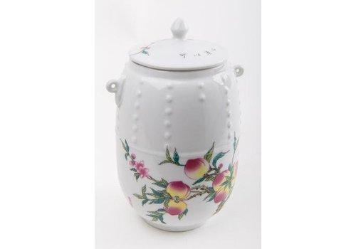 Fine Asianliving Chinese Tea Voorraadbus Porcelain Perzik