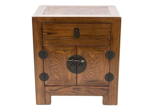 Fine Asianliving Fine Asianliving Chinese Small Cabinet Handmade Elm & Bamboo Natural Brown