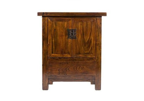 Fine Asianliving Chinese Cabinet with Two Doors Dark Brown