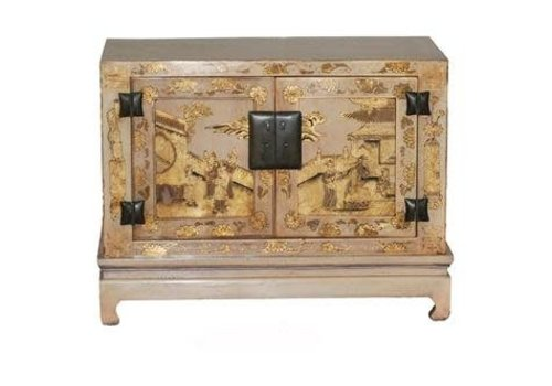 Fine Asianliving Chinese Cabinet White Ming Dynasty Handpainted - White