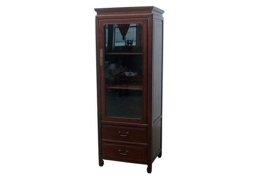 Fine Asianliving Chinese Display Cabinet Bookcase Drawers