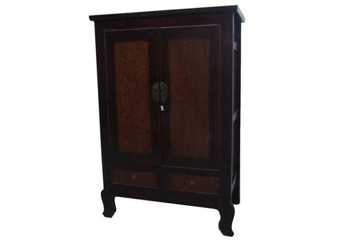 Fine Asianliving Fine Asianliving  Antique Chinese Bridal Cabinet Large Brown Black
