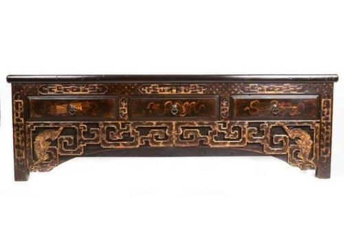 Fine Asianliving Antique Chinese Sideboard with Hand Carved Carvings