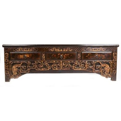 Antique Chinese Sideboard with Hand Carved Carvings