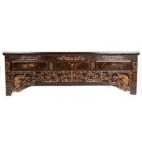 Antiek Chinees Dressoir met Handgesneden Carvings