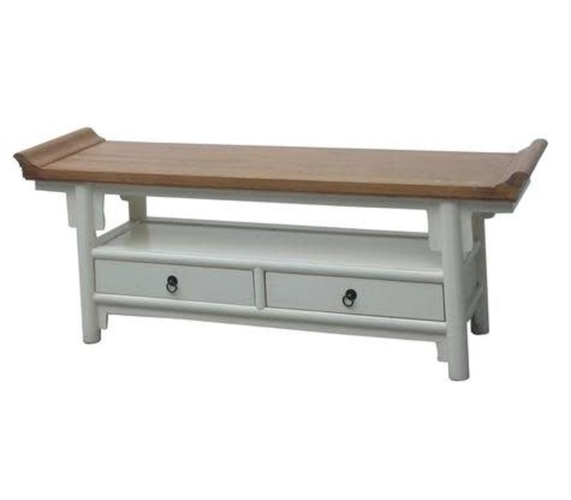 Tv Kast Dressoir.Chinese Tv Kast Dressoir Wit Qiaotou Met Twee Lades Orientique