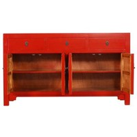 Fine Asianliving Chinees Dressoir L140xW35xH80cm Lucky Rood