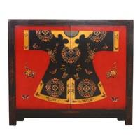 Chinese Dressoir Handbeschilderd Qipao B110xD42xH94cm