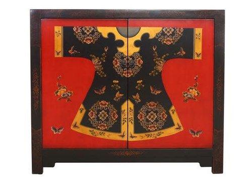 Fine Asianliving Chinese Dressoir Klein Qibao Handbeschilderd