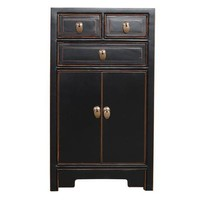 Fine Asianliving Chinese Bedside Table Black W44xD42xH77cm