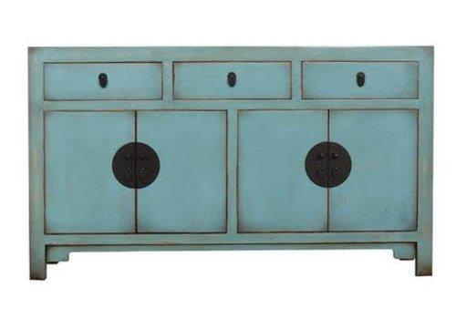 Fine Asianliving Chinese Sideboard Medium Vintage Blue