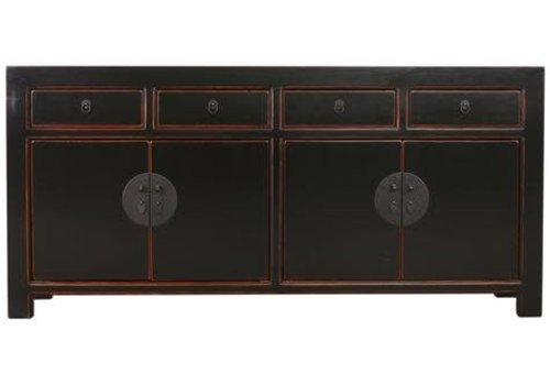 Fine Asianliving Fine Asianliving Chinese Sideboard Chest of Drawers Dresser Cabinet L180xW40xH85cm Black