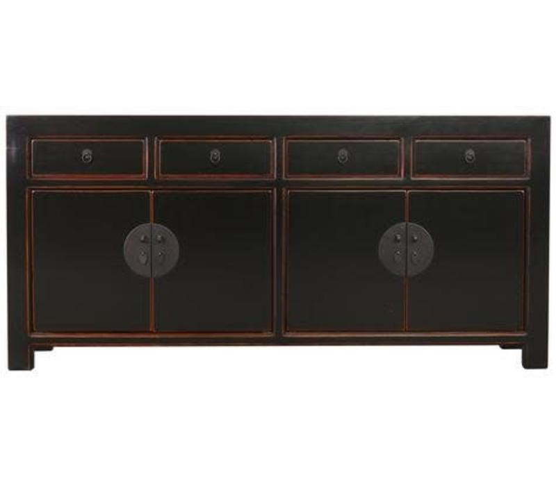 Fine Asianliving Chinese Sideboard Chest of Drawers Dresser Cabinet L180xW40xH85cm Black