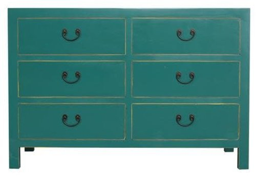 Fine Asianliving Fine Asianliving Chinese Drawer cabinet Teal