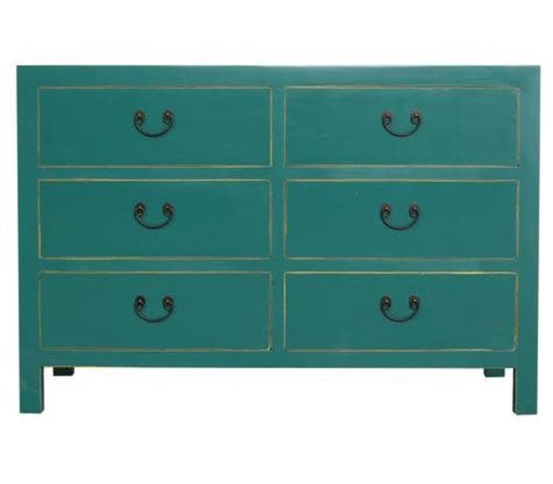 Fine Asianliving Chinese Drawer cabinet Teal