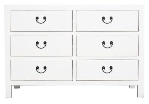 Fine Asianliving Chinese Drawer Cabinet White