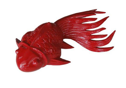 Fine Asianliving Thaise Koi Vis Red Bamboe Handgesneden Medium