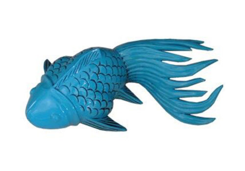 Fine Asianliving Thai Koi Vis Turquoise Bamboo Handcrafted Small