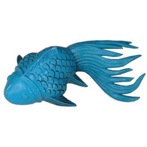Thai Koi Vis Turquoise Bamboo Handcrafted Small