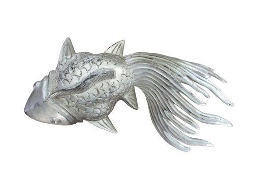 Fine Asianliving XL Silver Lucky Fish