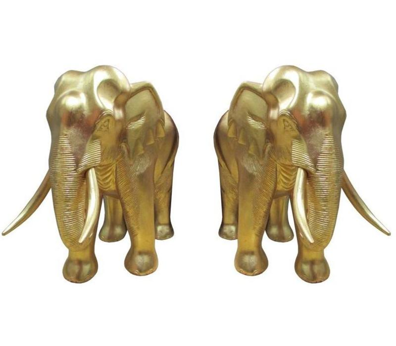 Set/2 Gold Leaf Elephant