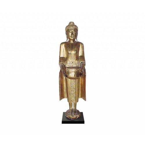 Gouden Thaise Boeddha Op Standaard