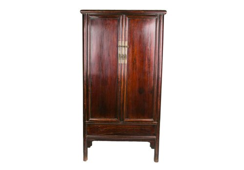 Fine Asianliving Antique Chinese Cabinet Dark Brown Red