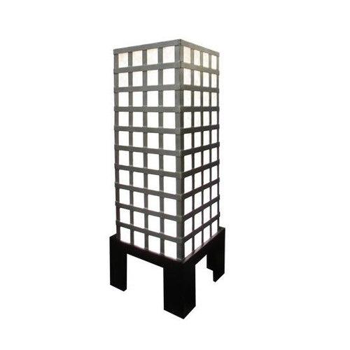 Fine Asianliving Thai Floor Lamp Ricepaper and Steel Small
