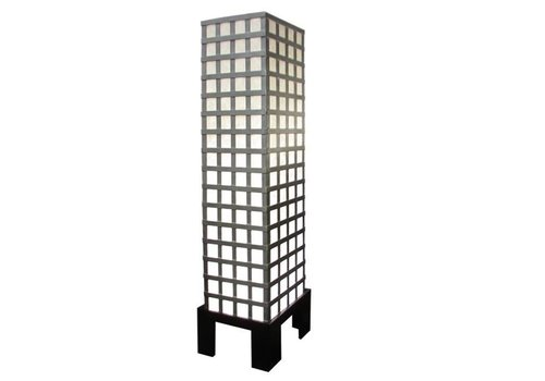 Fine Asianliving Fine Asianliving Thai Floor Lamp Ricepaper and Steel