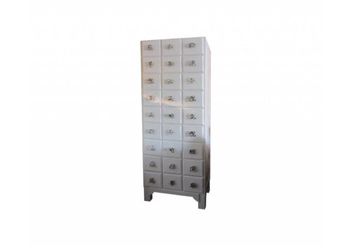 Fine Asianliving Thai Cabinet White Chinese Horoscope Characters