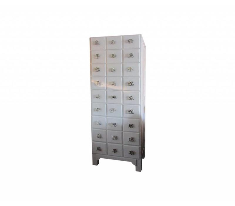Chinese Cabinet with Handcrafted Aluminium Chinese Zodiac Characters W53xD34xH177cm