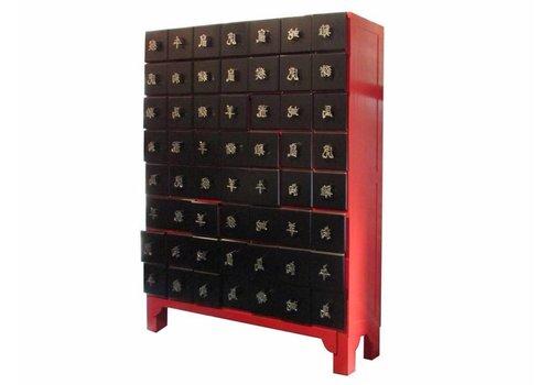 Fine Asianliving Cassettiera Tailandesa con Caratteri Cinesi Alluminio dello Zodiaco