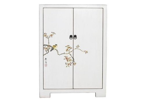 Fine Asianliving Fine Asianliving Chinese Cabinet  White Birds & Cherry Blossoms White