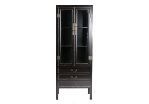 Fine Asianliving PREORDER Fine Asianliving Chinese Bookcase Display Cabinet Black