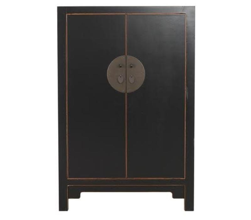 Antique Chinese Big Cabinet Hand Painted Black - Changsha