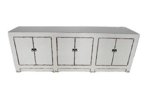 Fine Asianliving Chinese TV Cabinet White Doors White