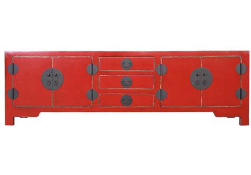 Fine Asianliving Fine Asianliving Chinese TV Cabinet With  Drawers Red
